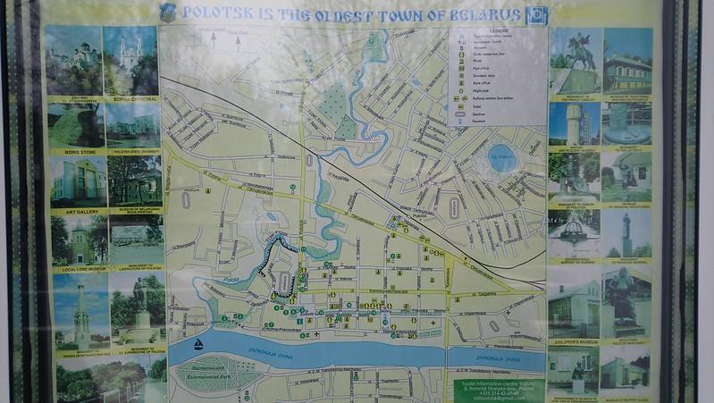 Mapa de Polotsk
