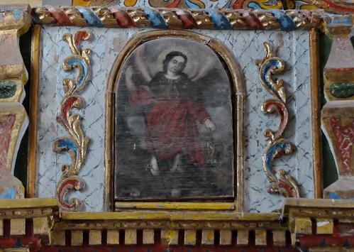 Tuineje (Fuerteventura-Canarias-España). Iglesia de San Miguel Arcángel. Retablo. Ángel