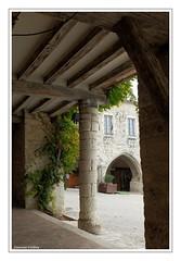 Place de la bastide de Monflanquin