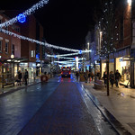 Christmas lights on Fishergate, Preston