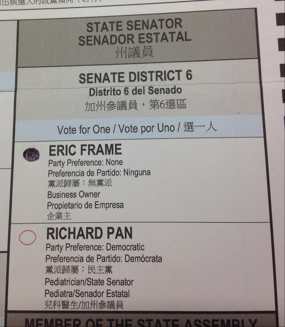 Eric Frame for State Senator