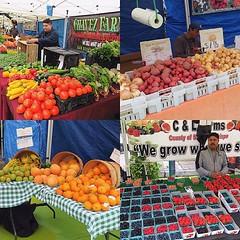 一星期只是兩日的SliverLake Farmers Market,規模不大,有如精緻版的大笪地,亦是美國常見大大小小的Farm Market,本地農產品看起來很新鮮飽滿,可惜酒店房沒有廚房設備,只買士多啤梨即場食,多汁甜度高! 【浪游旅人】https://ift.tt/1zmJ36B #backpackerjim #morning #farm #farmersmarket #local #market #silverlake #losangeles #usa #america