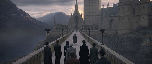 Final scene at Hogwarts. From A First Look at Fantastic Beasts: The Crimes of Grindelwald