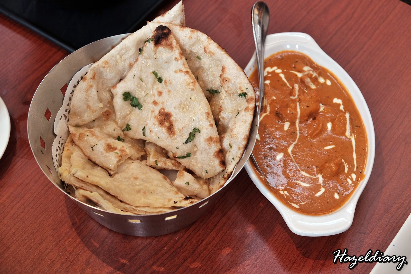 Pavilion Banana Leaf Restaurant-Indian Cuisine-Naan and Butter Chicken
