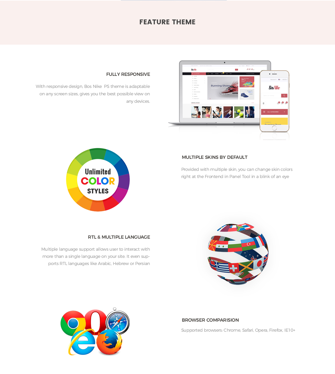 Prestashop 1.7 theme features-Bos Nike - modern theme for shoes, fashion, sport store