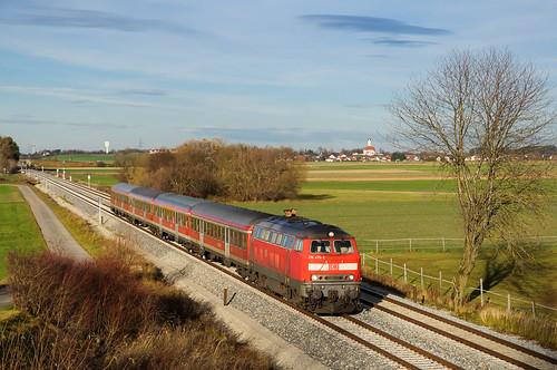 218 475, RE München Hbf - Kaufbeuren, Weinhausen