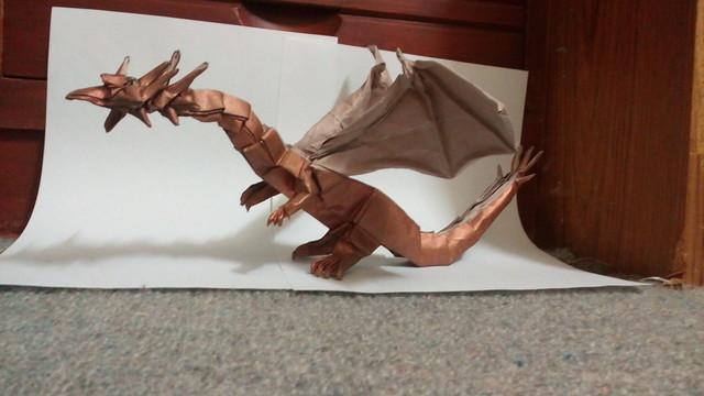 Western dragon designed by Shuki Kato, folded by me | Dragon ... | 360x640
