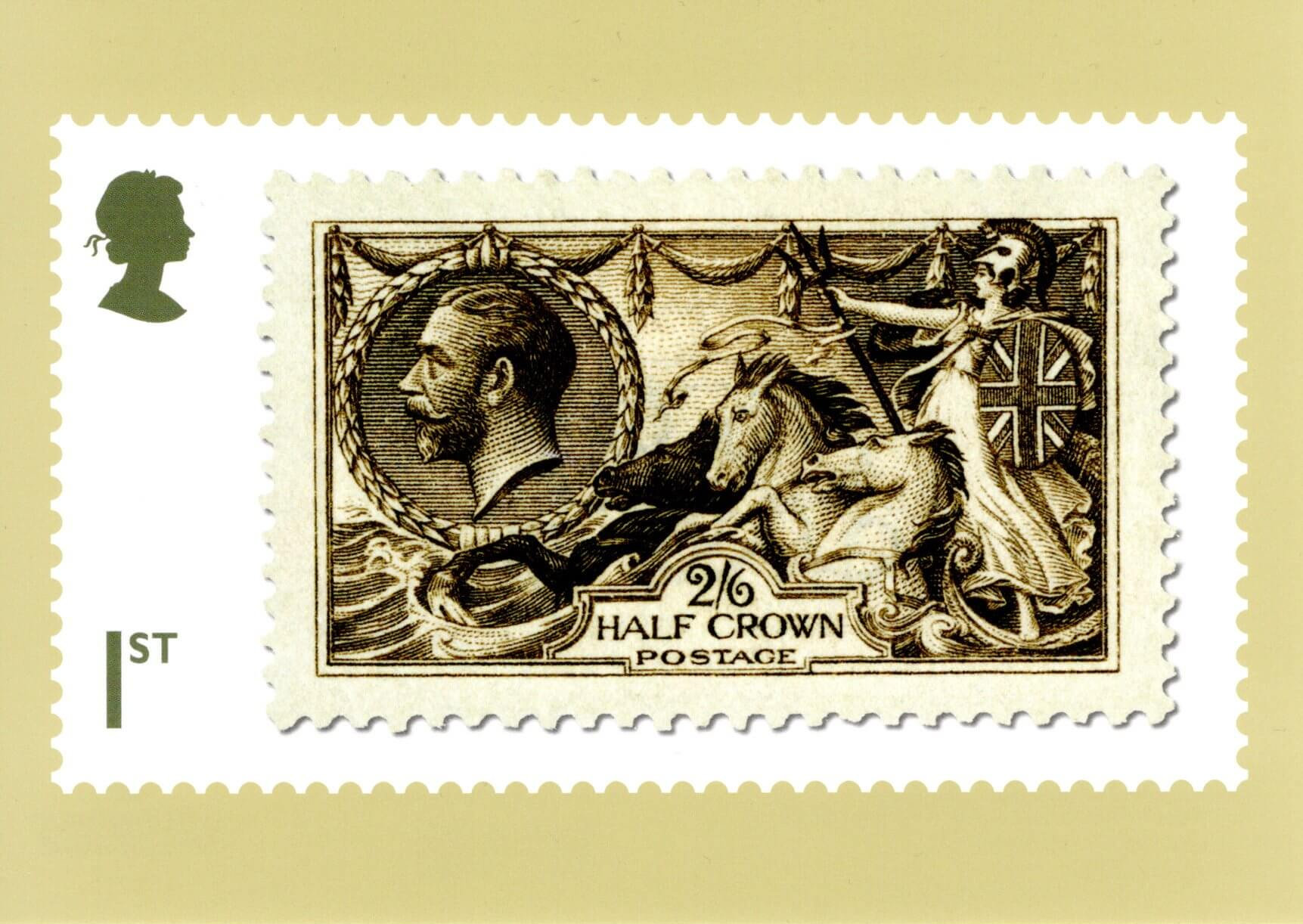 Great Britain - Stamp Classics (January 15, 2019) dark brown 2 shilling 6d King George V of 1913 PHQ card
