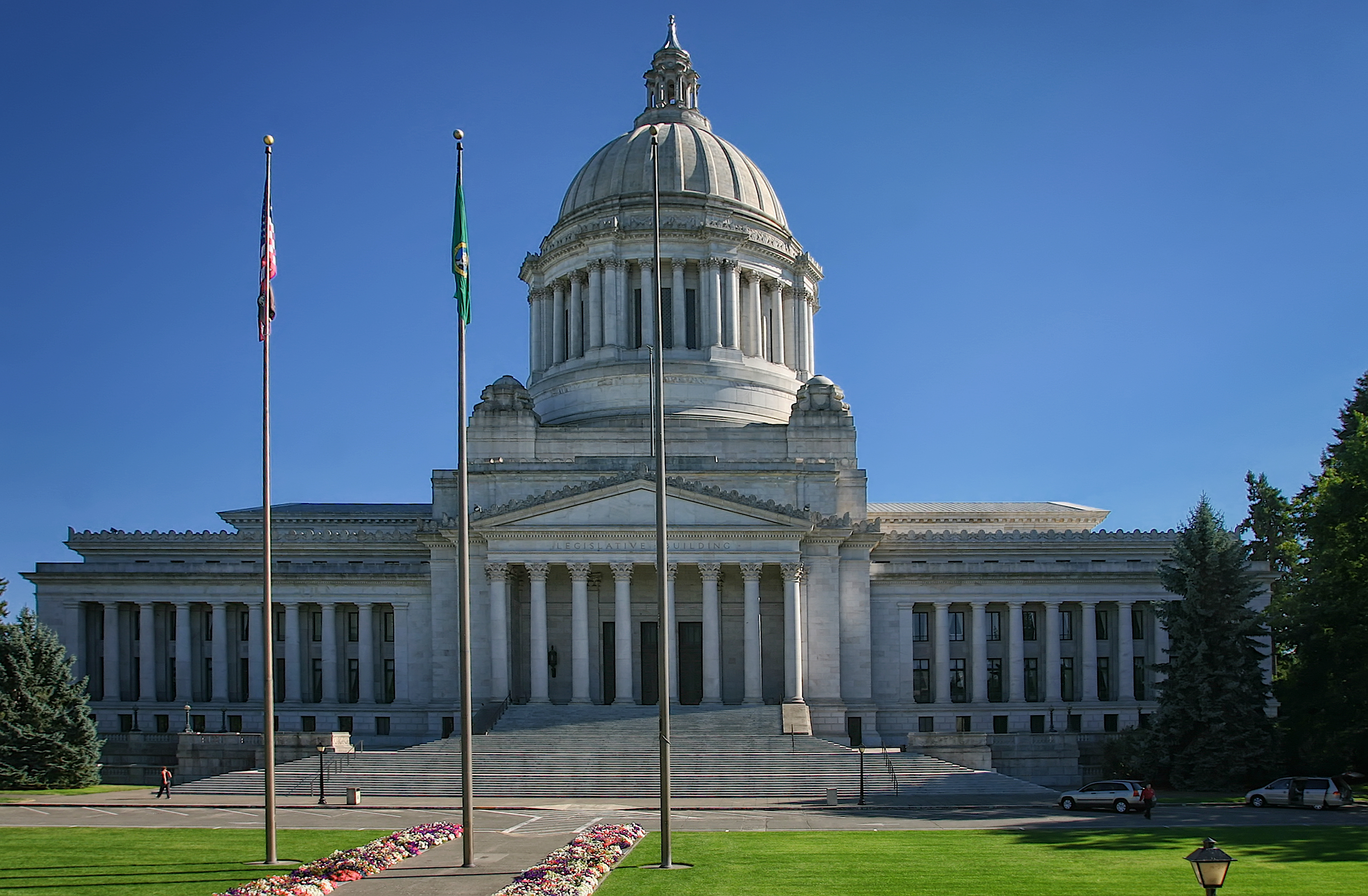 The Washington State Capitol building in Olympia. Photo taken on August 13, 2006.