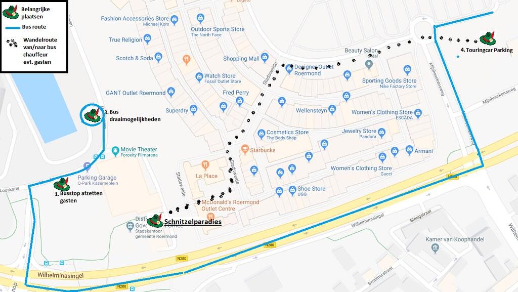 Route Schnitzelparadies Roermond