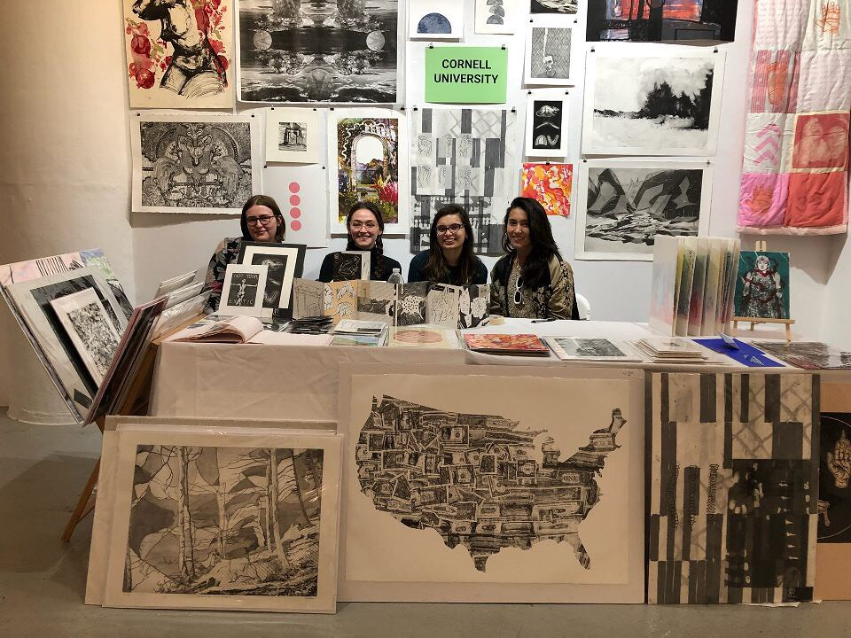 Art students displayed their work at Printfest 2018.   photo / Julianne Hunter, AAP Printmaking Specialist