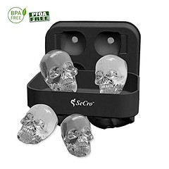 Hilarious 3 D Skull Silicone Ice Cube Maker