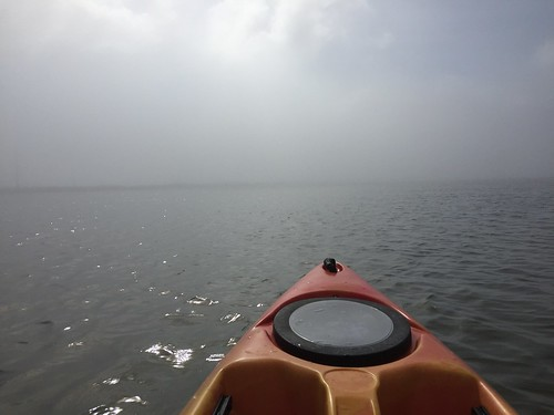 A storm came up while kayaking.