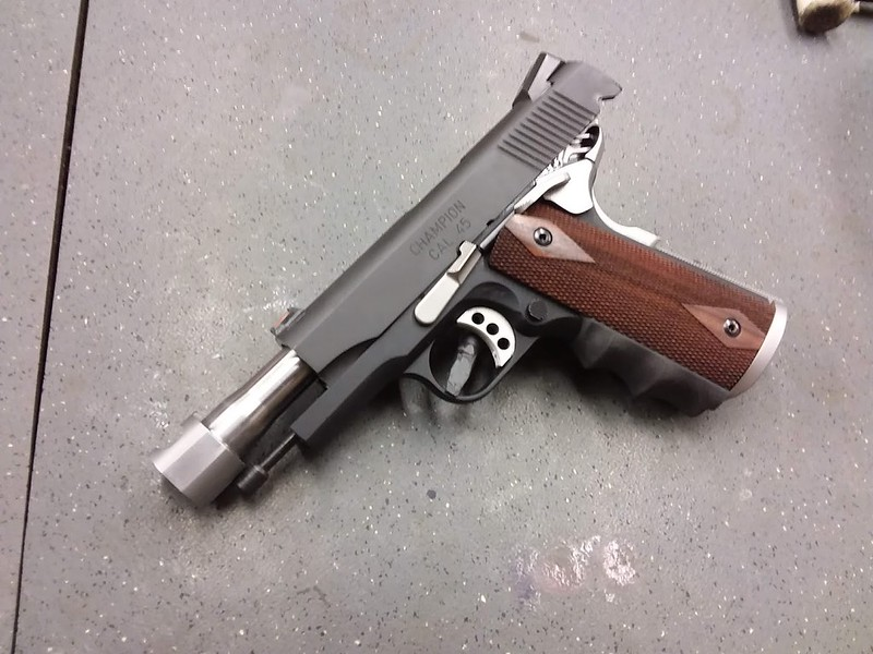 Adding a comp to a 1911 barrel without buying a threaded barrel