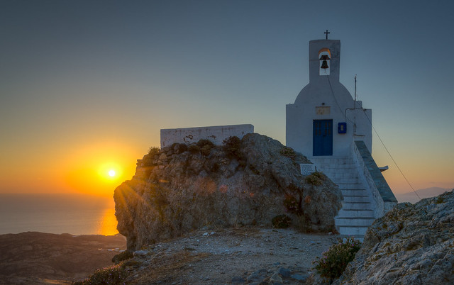 Sunrise in Chora, Serifos, Greece