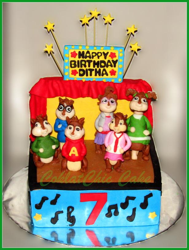 Cake Alvin & Chipmunks DITHA 18 cm