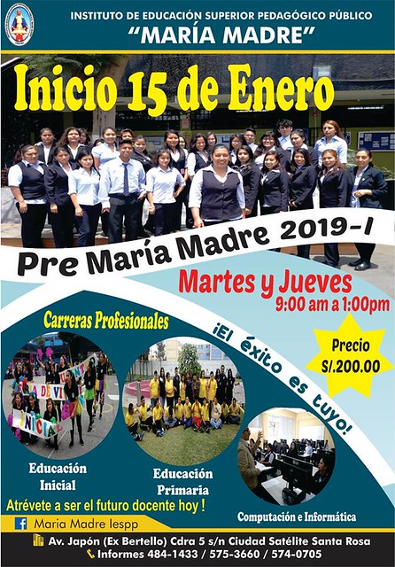 PRE MARÍA MADRE 2019-I