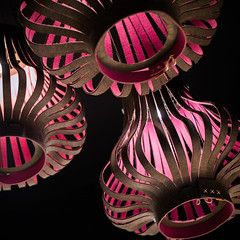 Cardboard chandeliers with interesting unique design
