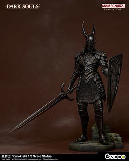 氣勢十足的新人殺手!Gecco《黑暗靈魂 DARK SOULS》黑騎士 1/6比例雕像(黒騎士 1/6スケール スタチュー)