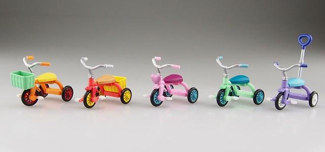 【官圖更新】青島文化教材社 – 「三輪車系列 彩色版本」逗趣轉蛋作品 好評續推!三輪車コレクション カラフルバージョン