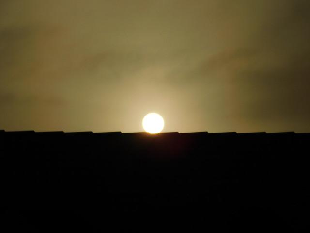 Sunrise Over Building, Nikon COOLPIX B500