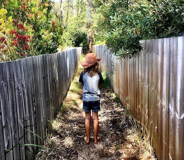 013/365 • laneway and eleven year old • . . #Summer2019 #11yo #bellalunaboat #gardenislandcreek #family #australia #huonvalley #tasmania #abcmyphoto #tasmaniagram #discovertasmania #wilderness1100 #seagypsies