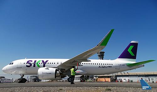 SKY A320neo CC-AZC pushback (RD)
