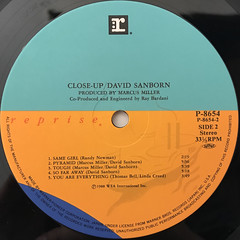 DAVID SANBORN:CLOSE-UP(LABEL SIDE-B)