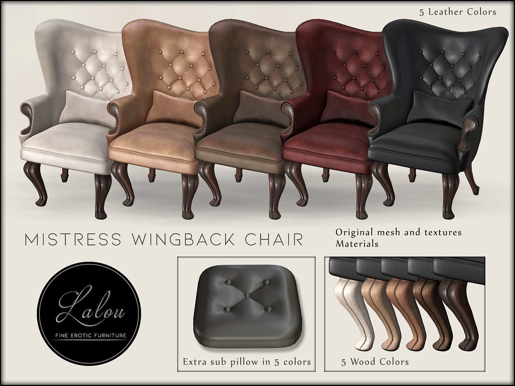 Lalou - Mistress Wingback Chair - Colors - TeleportHub.com Live!