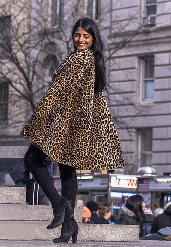 The Girl in the Leopard Skin Coat
