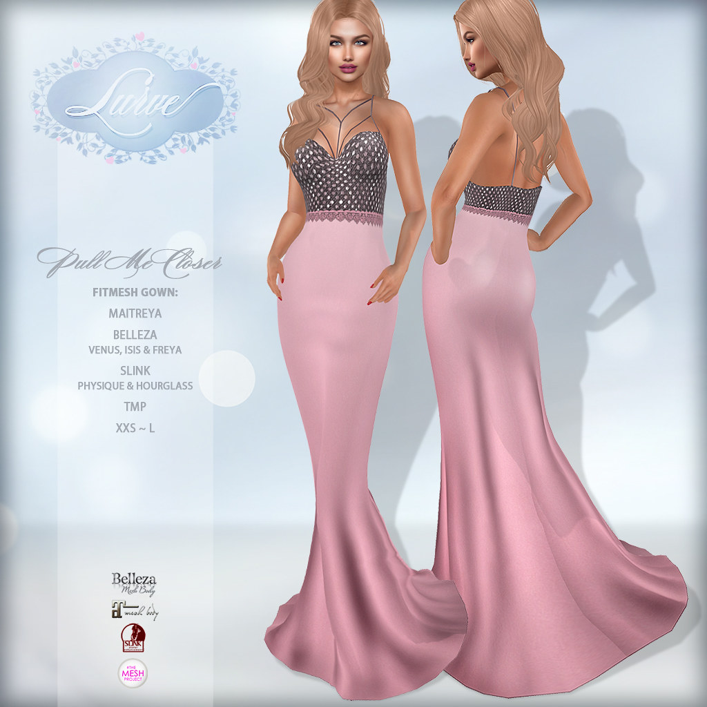 *Lurve* Pull Me Closer Gown in Pink