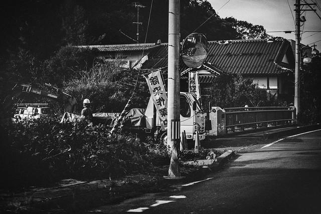 "Nov. 07. 2018  ""除染作業員 /Nuclear Decontamination worker's""  Futaba, Fukushima(撮影:東間嶺)"