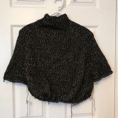 """I have about 5"""" of the body knit after the armholes on my Turtle Dove!"""