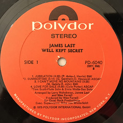 JAMES LAST:WELL KEPT SECRET(LABEL SIDE-A)
