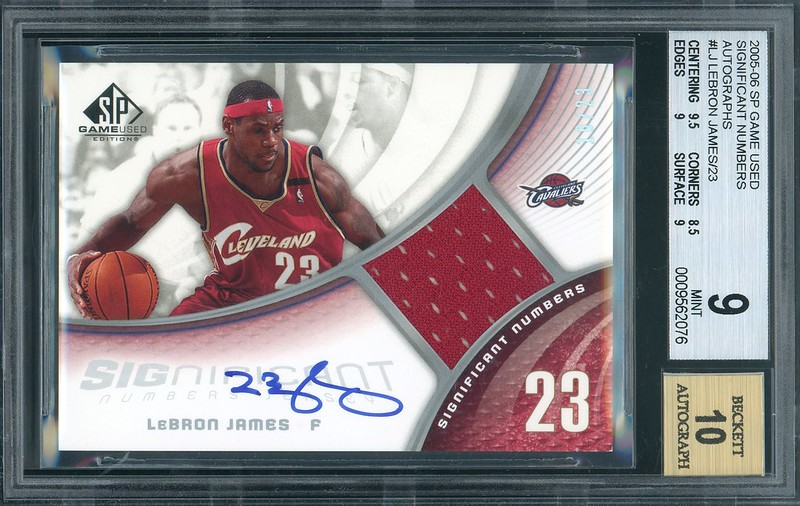 half off 75480 38c68 FS:LEBRON JAMES 2005-06 SP GAME USED JERSEY AUTO (on-card ...