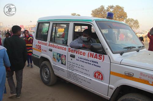 Ambulance Service in the Samagam Ground