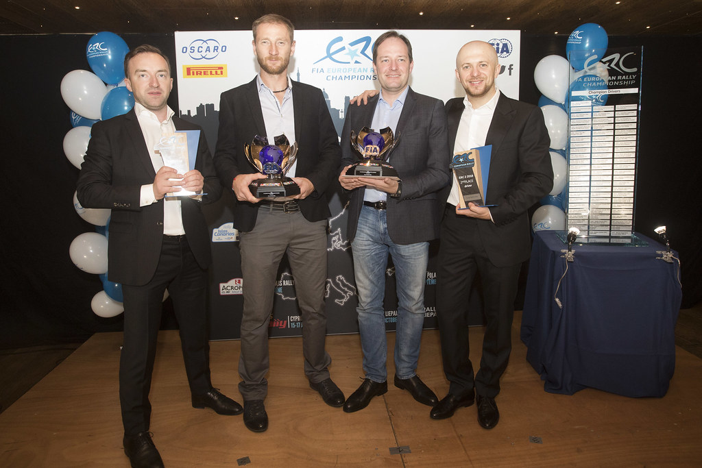 LUKYANUK Alexey (rus), ARNAUTOV Alexey (rus), Russian Performance Motorsport, FORD FIESTA R5, portrait REMENIK Sergei, ROZIN Mark, Mitsubishi Lancer EVO X, portrait during the ERC Prize Giving at Paris, France, december 3, 2018 - Photo Gregory Lenormand / DPPI