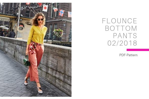 Flounce Bottom Pants