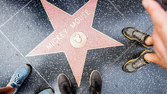 Mickey Mouse Star in Hollywood - Los Angeles, California, USA