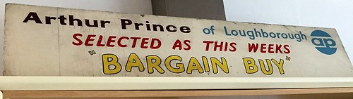 DEALERS ROOF SIGN - ARTHUR PRINCE OF LOUGHBOROUGH - SELECTED AS THIS WEEKS BARGAIN BUY