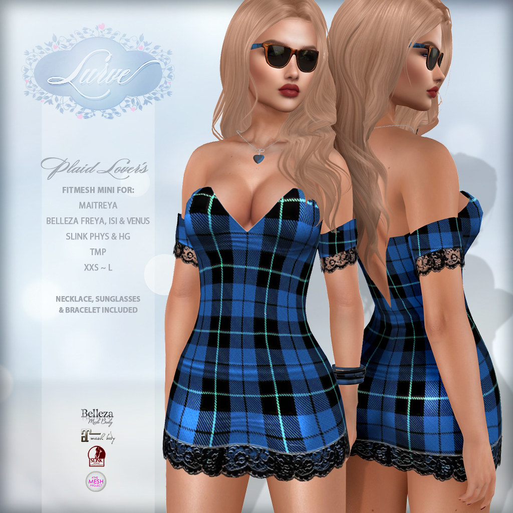 *Lurve* Plaid Lover's Mini in Blue