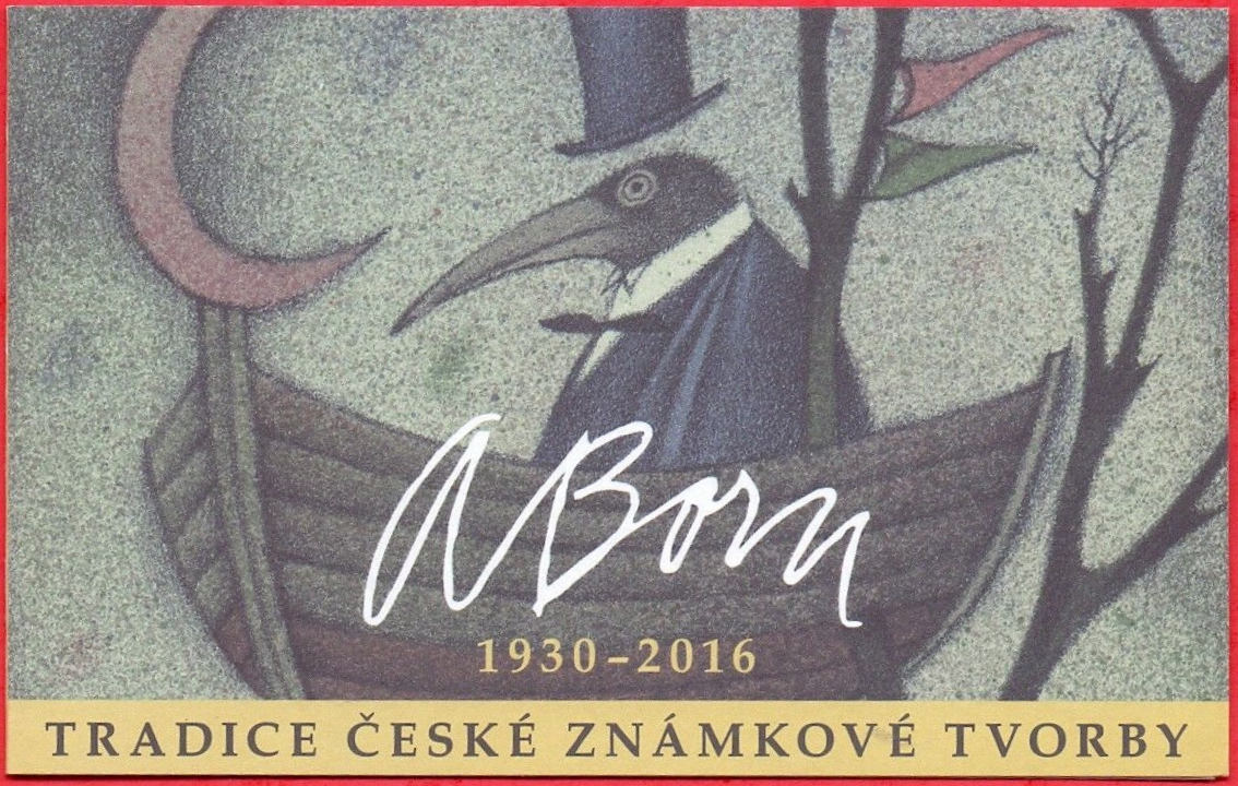 Czech Republic - Tradition of Czech Stamp Design: Adolf Born (January 20, 2019) booklet cover