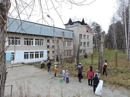 Субботник возле Покровского прихода 2018
