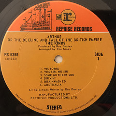 THE KINKS:ARTHUR OR THE DECLINE AND FALL OF THE BRITISH EMPIRE(LABEL SIDE-A)