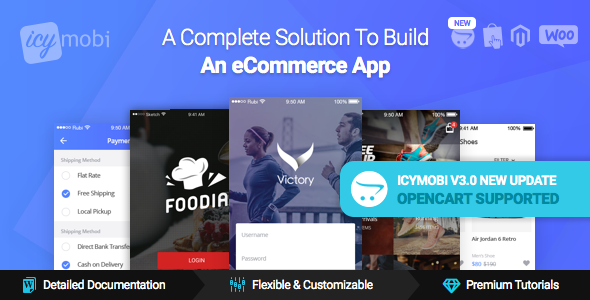 IcyMobi v3.0.2 – All-in-one E-commerce App Solution