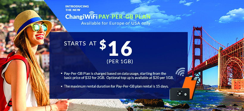 [TRAVEL TIPS] ChangiWiFi's new Pay-Per-GB plan costs as low as $32 per trip  for USA and Europe travellers
