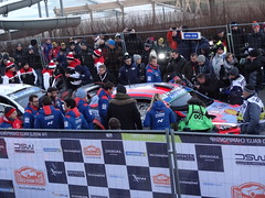 Cars coming in for Service at Monte-Carlo Rally