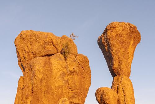 granite mushroomrock marcuslandslidetrail mcdowellsonoranpreserve scottsdale arizona sunrise desert sonorandesert
