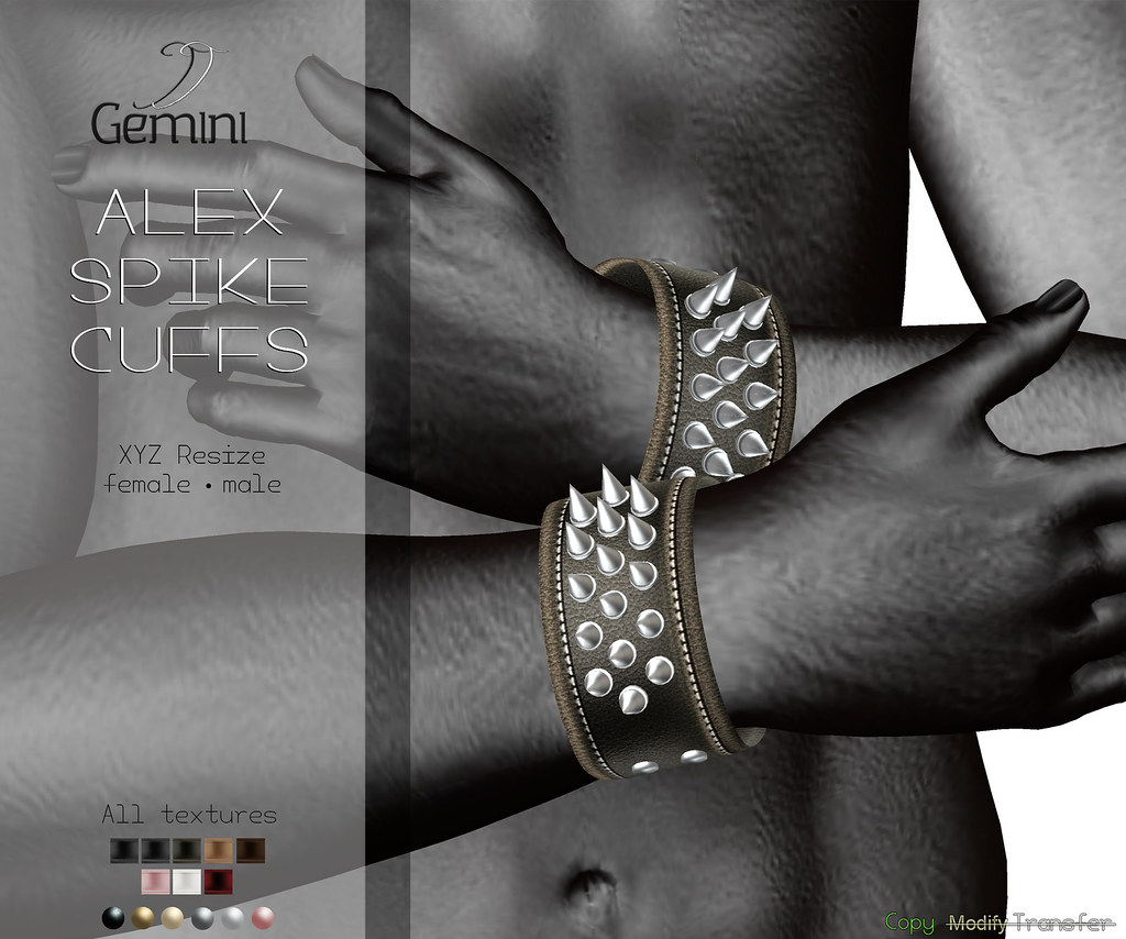 •Gemini -Alex Spike Cuffs- @ DUBAI EVENT, Jan Round•