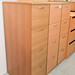 Four drawer beech filing cabinet no keys E120